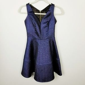 EXPRESS Metallic Blue Racerback Party Dress Size 0